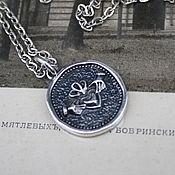 Украшения handmade. Livemaster - original item Silver coin pendant. Claddagh.. Handmade.