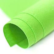 Материалы для творчества ручной работы. Ярмарка Мастеров - ручная работа Фетр под термотрансфер зеленый 1,0 мм. Handmade.
