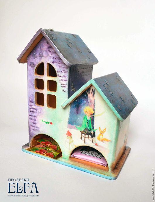 """Кухня ручной работы. Ярмарка Мастеров - ручная работа. Купить """"Маленький принц"""" чайный домик. Handmade. Сиреневый, маленький принц"""