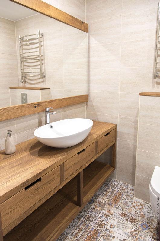 Мебель ручной работы. Ярмарка Мастеров - ручная работа. Купить Тумба в ванную комнату QUATTRO. Handmade. Тумба в ванную