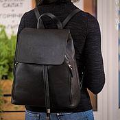"""Рюкзаки ручной работы. Ярмарка Мастеров - ручная работа Рюкзак кожаный женский """"Alter Ego"""" (Чёрный). Handmade."""