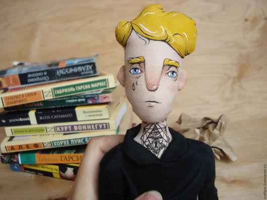 Коллекционные куклы ручной работы. Ярмарка Мастеров - ручная работа. Купить Текстильная кукла Есенин сегодня. Handmade. Черный
