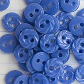 Пуговицы ручной работы. Ярмарка Мастеров - ручная работа Пуговицы: Пуговица синяя 8мм. Handmade.