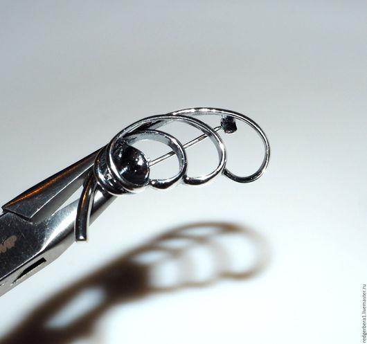 """Для украшений ручной работы. Ярмарка Мастеров - ручная работа. Купить Основа для броши """"Ксандра""""- серебряние 925 пробы. Handmade."""