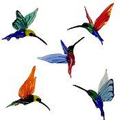 Для дома и интерьера ручной работы. Ярмарка Мастеров - ручная работа Интерьерное подвесное украшение из цветного стекла птица Колибри Sol. Handmade.
