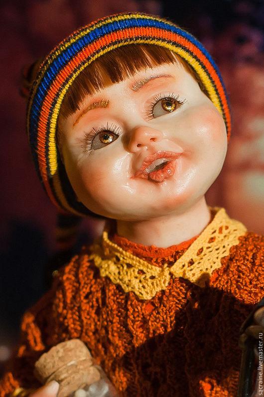 Коллекционные куклы ручной работы. Ярмарка Мастеров - ручная работа. Купить Гном Джимми с фонариком. Handmade. Авторская кукла