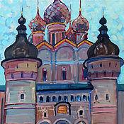 Картины и панно handmade. Livemaster - original item Oil painting. King`s gate. Rostov. 46h56. Handmade.