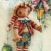 Куклы и игрушки ручной работы. Ярмарка Мастеров - ручная работа Елочная игрушка  Буратино. Handmade.