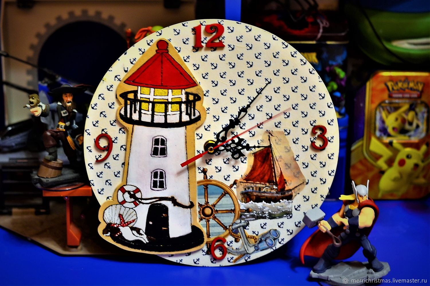 Wall clock for children Mayak, Watch, Moscow,  Фото №1