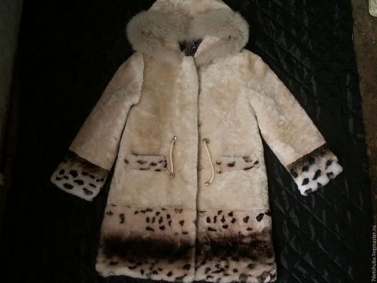 Одежда для девочек, ручной работы. Ярмарка Мастеров - ручная работа. Купить Шуба для девочки. Handmade. Бежевый, пальто для девочки, шуба