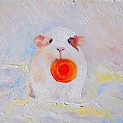 Картины и панно ручной работы. Ярмарка Мастеров - ручная работа Картина. Бубу и кусочек морковки.. Handmade.