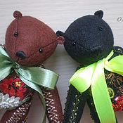 """Куклы и игрушки ручной работы. Ярмарка Мастеров - ручная работа Жостовские мотивы. Медведь """"Цветочный букет"""" (коричневый). Handmade."""