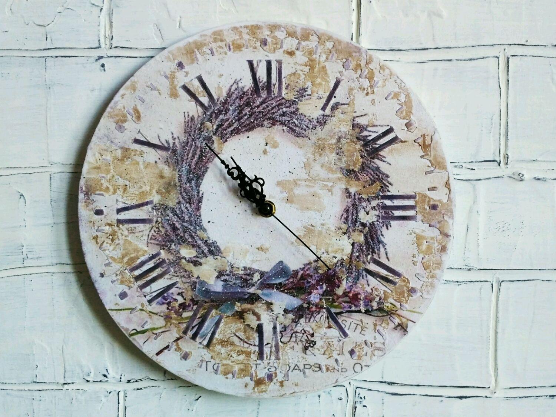 Часы настенные Прованс. Круглые настенные часы, Часы классические, Ярославль,  Фото №1