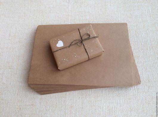 Упаковка ручной работы. Ярмарка Мастеров - ручная работа. Купить Крафт-бумага А4 (21х30 см). Handmade. Коричневый