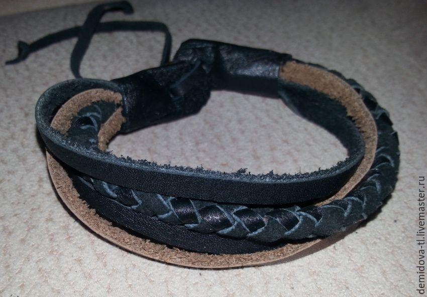 браслеты мужские кожаные фото