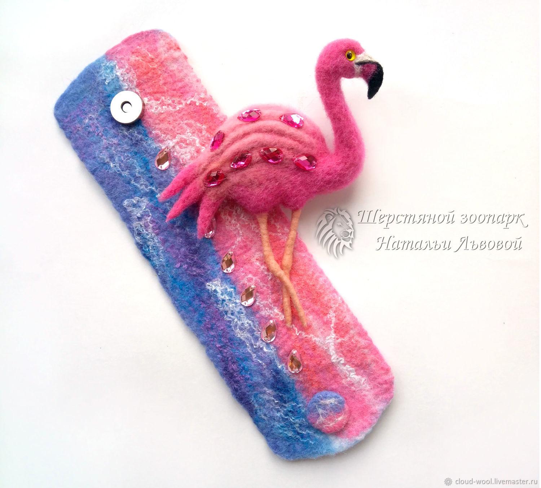 Brooches Handmade Livemaster Set Pink Flamingo Bracelet And Brooch