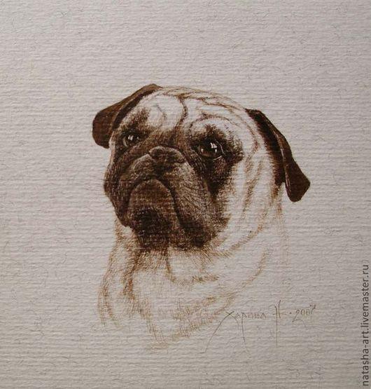 Животные ручной работы. Ярмарка Мастеров - ручная работа. Купить Портреты собак по фотографии. Handmade. Портрет по фото, собака