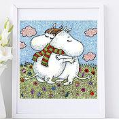 Картины и панно handmade. Livemaster - original item Posters for the interior Moomin-Trolls Paintings in the children`s room. Handmade.