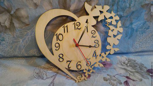 Часы для дома ручной работы. Ярмарка Мастеров - ручная работа. Купить Часы настенные -  Сердце любви. Handmade. Серый
