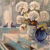 Картины и панно ручной работы. Ярмарка Мастеров - ручная работа Цветы и рояль. Handmade.
