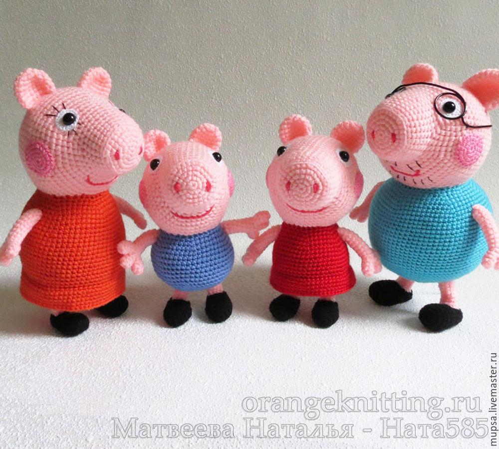 Свинка пеппа крючком схема вязания