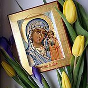 Картины и панно handmade. Livemaster - original item The Kazan icon of the Mother of God. Handmade.