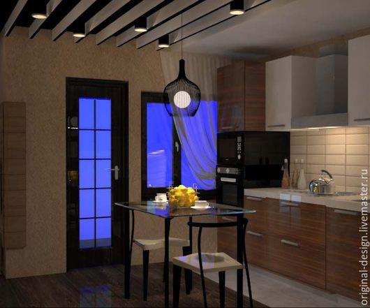 Дизайн интерьеров ручной работы. Ярмарка Мастеров - ручная работа. Купить дизайн кухни. Handmade. Комбинированный, дизайн интерьера