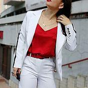 Одежда handmade. Livemaster - original item WHITE CLASSIC SPORT. Handmade.