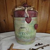 Для дома и интерьера ручной работы. Ярмарка Мастеров - ручная работа Баночка для кухни. Handmade.
