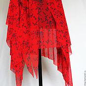 """Одежда ручной работы. Ярмарка Мастеров - ручная работа Юбка Красная """"Клинышки"""" ). Handmade."""