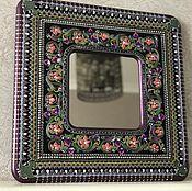 Зеркала ручной работы. Ярмарка Мастеров - ручная работа Зеркало интерьерное Purple fragrance. Handmade.