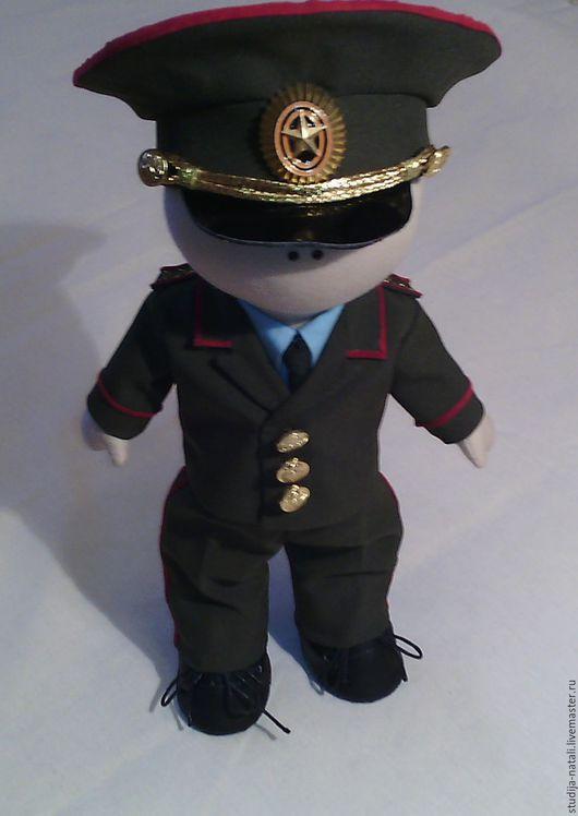 Куклы тыквоголовки ручной работы. Ярмарка Мастеров - ручная работа. Купить Интерьерная кукла Военный генерал. Handmade. Хаки