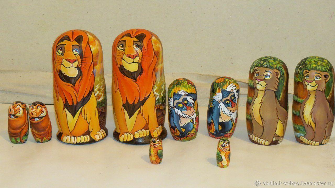 Lion King matryoshka nestin dolls, Dolls1, Ryazan,  Фото №1