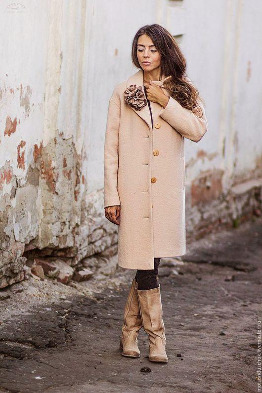 """Верхняя одежда ручной работы. Ярмарка Мастеров - ручная работа. Купить Пальто """" Ванильное небо"""". Handmade. Кремовый"""