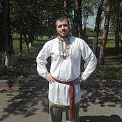 Русский стиль handmade. Livemaster - original item Men`s shirt with traditional embroidery