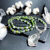 Фен-шуй и эзотерика handmade. Livemaster - original item Rosary of Jade and Rock crystal 108 b.. Handmade.