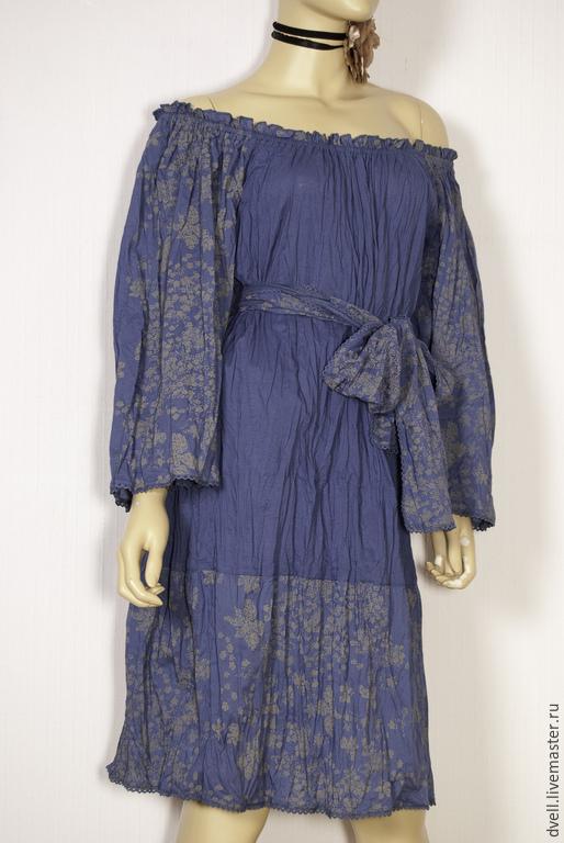 Платья ручной работы. Ярмарка Мастеров - ручная работа. Купить платье бохо в городе. Handmade. Синий, удобно, платье летнее