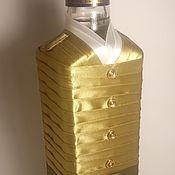 Оформление бутылок ручной работы. Ярмарка Мастеров - ручная работа Бутылоки для торжества. Handmade.