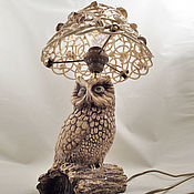 Для дома и интерьера handmade. Livemaster - original item Table lamp Owl. Handmade.