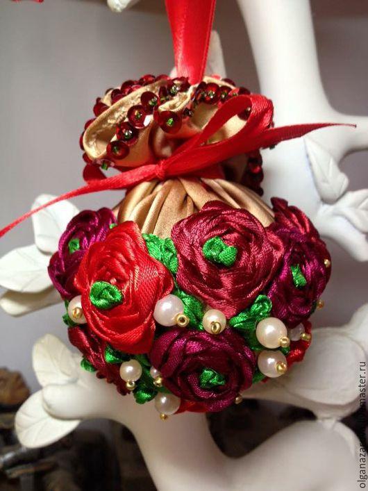 Новый год 2017 ручной работы. Ярмарка Мастеров - ручная работа. Купить Новогодние шары. Handmade. Ярко-красный, декор для интерьера