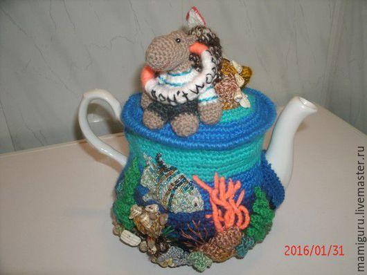 """Кухня ручной работы. Ярмарка Мастеров - ручная работа. Купить Грелка для чайника """"Don't worry, be heppy!. Handmade. Комбинированный"""