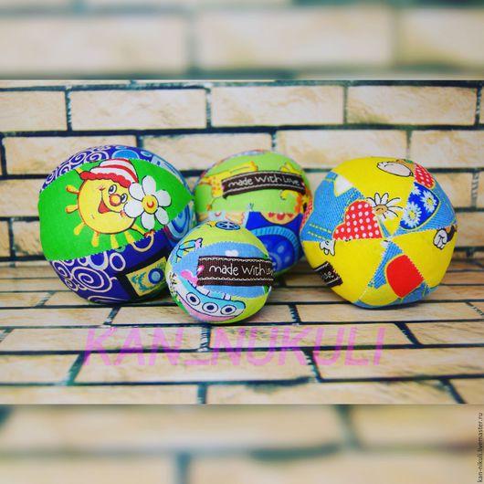 Развивающие игрушки ручной работы. Ярмарка Мастеров - ручная работа. Купить Мяч мякиш погремушка. Handmade. Комбинированный, мягкая игрушка