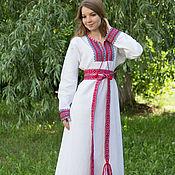 """Одежда ручной работы. Ярмарка Мастеров - ручная работа Платье """"Берегиня"""" бело-красное. Handmade."""