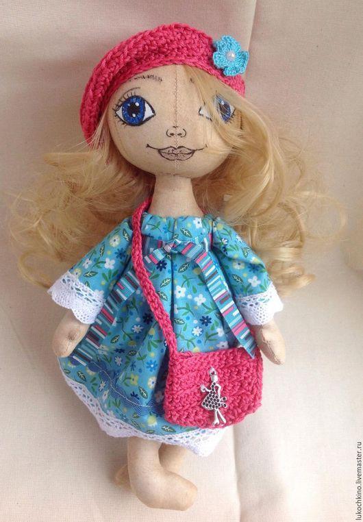 Коллекционные куклы ручной работы. Ярмарка Мастеров - ручная работа. Купить Кукла текстильная Лиза. Handmade. Бирюзовый, кукла