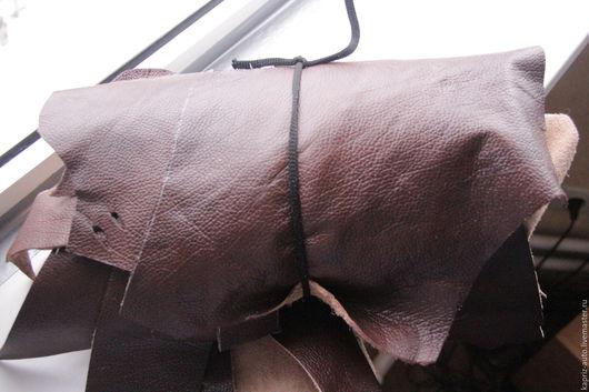 Шитье ручной работы. Ярмарка Мастеров - ручная работа. Купить №277.Рыже-коричневая? глянец, мягкая 1 мм.1.5 кг. Натуральная кожа. Handmade.