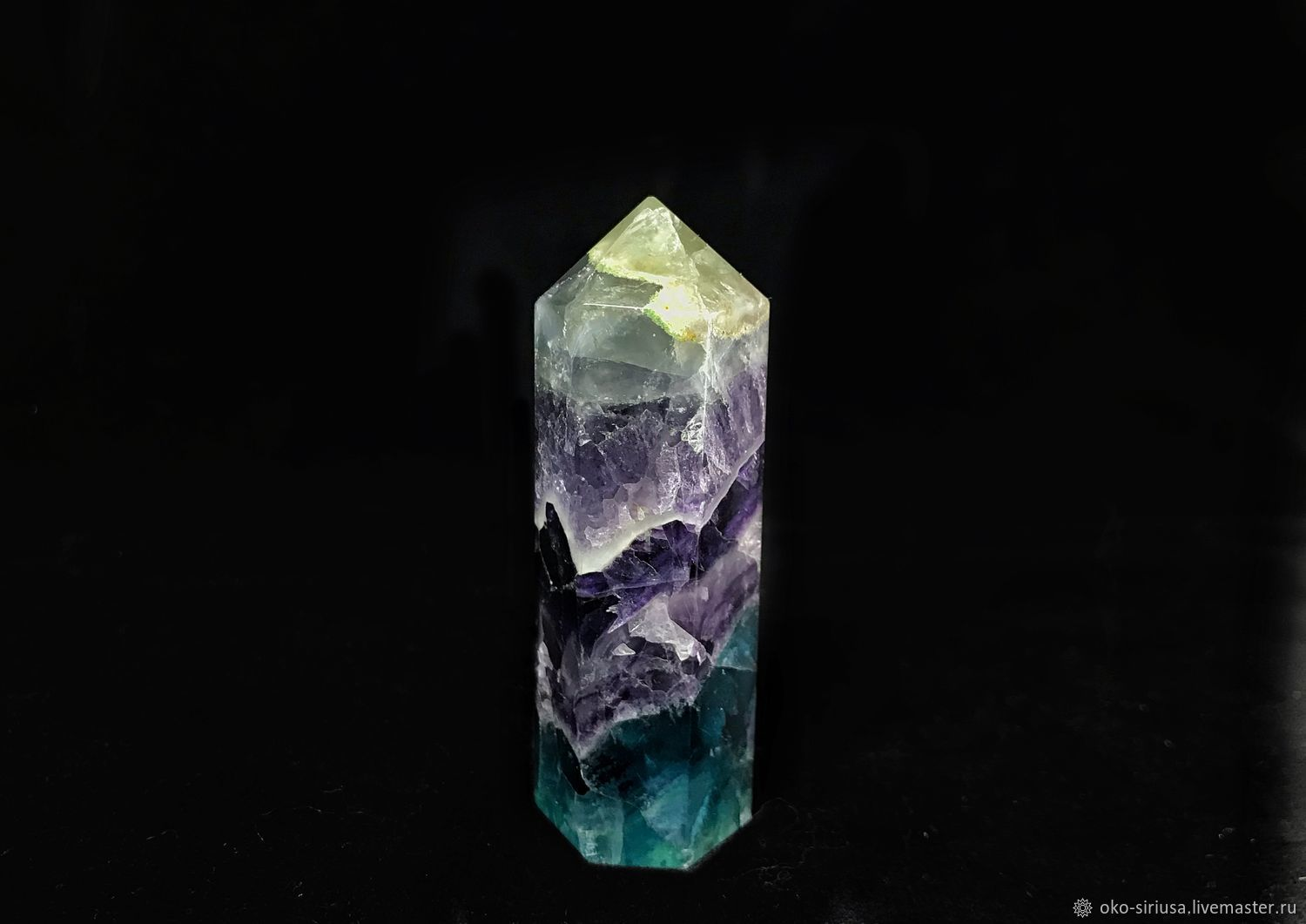 Crystal wand made of natural Fluorite, Crystal, Moscow,  Фото №1