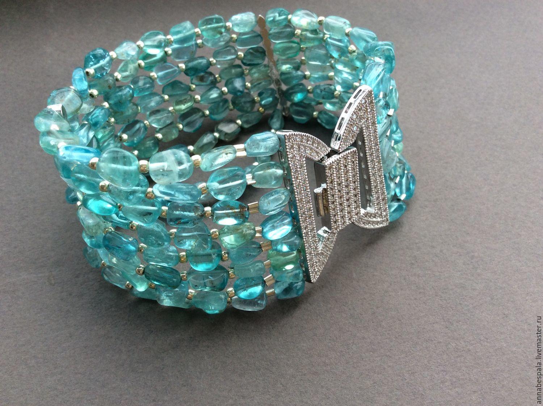 Bracelet ADRIATICA of Apatite, Bead bracelet, Moscow,  Фото №1