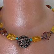 """Украшения handmade. Livemaster - original item Янтарное ожерелье """"Ярило"""" - природный янтарь.. Handmade."""