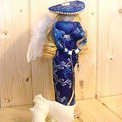 Мягкие игрушки ручной работы. Ярмарка Мастеров - ручная работа Ангел в синем Новогодний декор. Handmade.