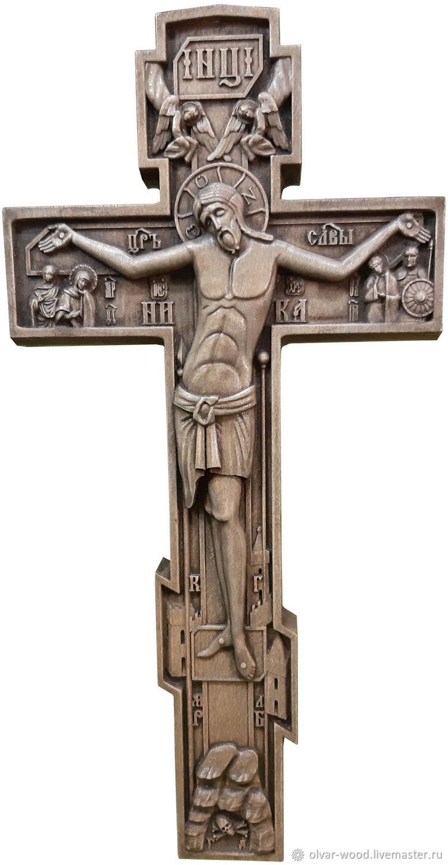 Деревянный резной крест распятие, Иконы, Москва,  Фото №1
